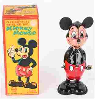 LINEMAR WINDUP MICKEY MOUSE WHIRLING TAIL w/ BOX