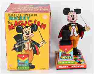LINEMAR BATTERY OP MICKEY MOUSE MAGICIAN w/ BOX