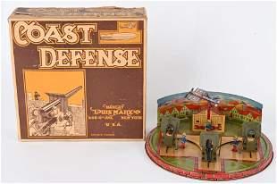 MARX TIN WINDUP COAST DEFENSE w/ BOX