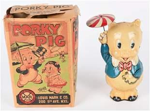 MARX TIN WINDUP PORKY PIG w/ BOX