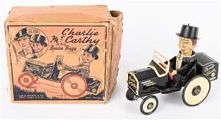 MARX WINDUP CHARLIE McCARTHY BENZINE BUGGY w/ BOX