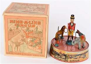 MARX TIN WINDUP RING-A-LING CIRCUS w/ BOX