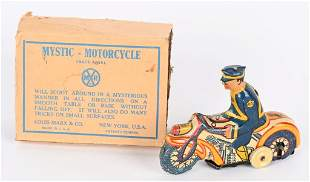 MARX TIN WINDUP MYSTIC MOTORCYCLE w/ BOX
