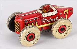 MARX TIN WINDUP #7 MIDGET BALLOON TIRE RACER