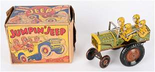 MARX TIN WINDUP JUMPIN JEEP w/ BOX