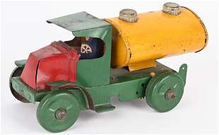 MARX 1920'S TIN WINDUP MACK TANKER TRUCK