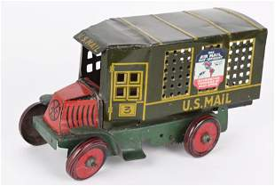 MARX 1920'S TIN WINDUP MACK U.S. MAIL TRUCK