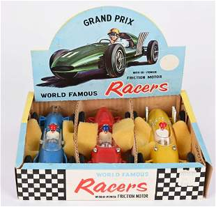 MARX WORLD FAMOUS FRICTION RACERS w/ BOX