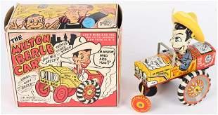 MARX TIN WINDUP MILTON BERLE CAR w/ BOX