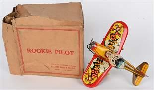 MARX TIN WINDUP ROOKIE PILOT w/ BOX