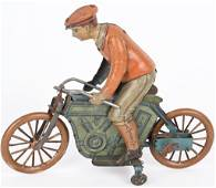 GERMAN KICO TIN WINDUP MOTORCYCLE and RIDER