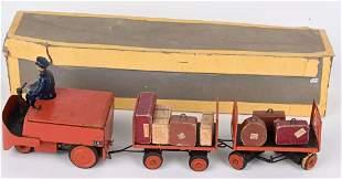FRENCH WINDUP BAGGAGE TRAIN w/ BOX