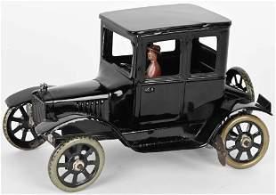 GERMAN BING TIN WINDUP MODEL T COUPE w/ DRIVER