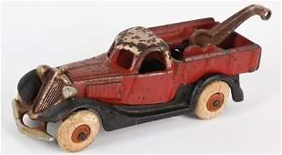 HUBLEY 1930's CAST IRON TERRAPLANE WRECKER TRUCK