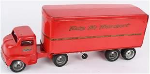 1953 TONKA PRESSED STEEL TOY TRANSPORT TRUCK