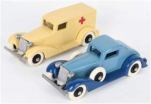 2- AUNT FAY'S TOYS OVERSIZE TOOTSIETOY CARS