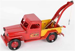 MARX WILLYS TOWING SERVICE TRUCK