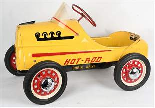 VINTAGE GARTON CHAIN DRIVE HOT ROD PEDAL CAR