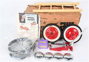 12- NOS PEDAL CAR TWO TONE WHEELS and MORE