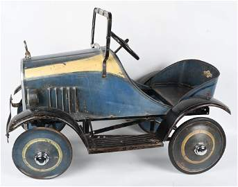 STEELCRAFT 1920's PEDAL CAR, ORIGINAL PAINT