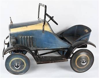 STEELCRAFT 1920's PEDAL CAR, ORIGINAL PAINT