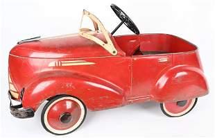GARTON 1930's ROADSTER PEDAL CAR, ORIGINAL PAINT