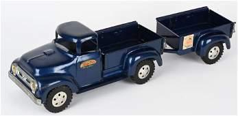 1950s TONKA PICKUP TRUCK & TRAILER