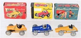 3- SCHUCO WINDUP MICRO RACERS w/ BOXES