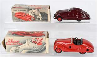 2- SCHUCO WINDUP AUTOMOBILES w/ BOXES