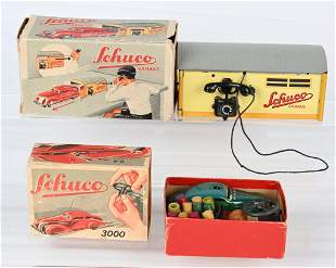 SCHUCO CAR & GARAGE w/ BOXES