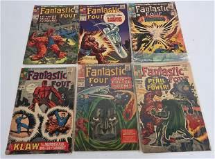 6- FANTASTIC FOUR COMIC BOOKS