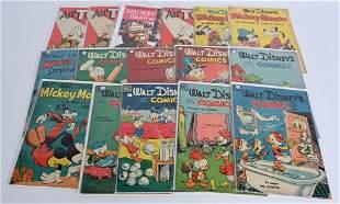 16- 10c WALT DISNEY COMIC BOOKS & MORE