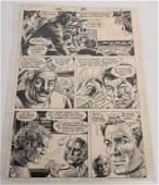 ORIGINAL DC COMICS STAR TREK COMIC ART BOARD