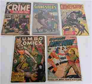 5- 10c CRIME COMIC BOOKS & MORE
