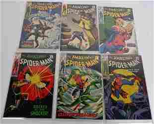 5- 12c AMAZING SPIDERMAN COMIC BOOKS