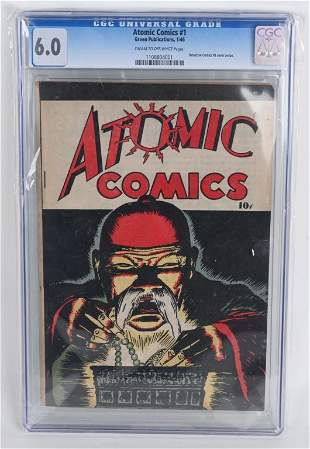 ATOMIC COMICS #1 CGC 6.0