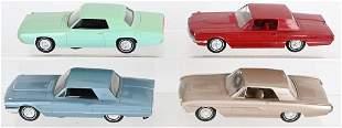 4- 1960s FORD THUNDERBIRD PROMO CARS