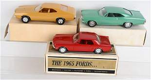3- 1960s-70s FORD PROMO CARS