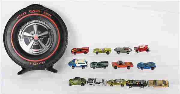 HOT WHEELS RED LINES CASE & CARS