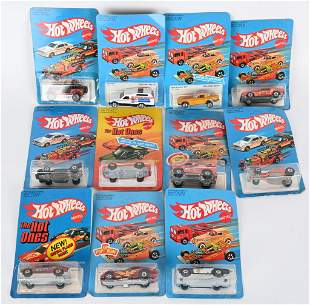 11- 1970s HOT WHEELS CARS MOC