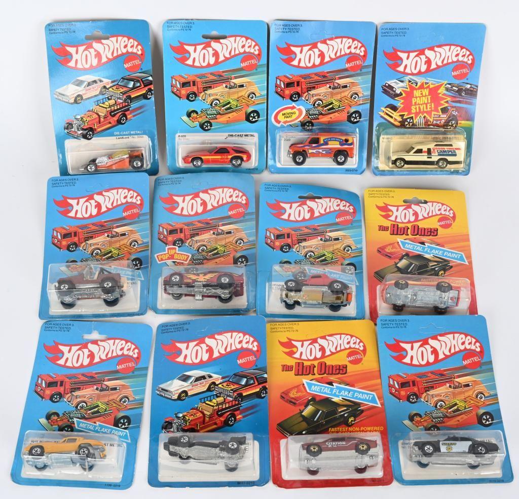 12- 1970s HOT WHEELS CARS MOC