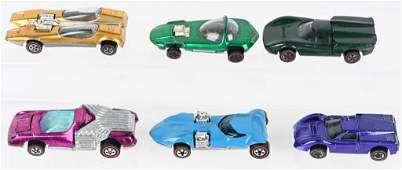 6- VINTAGE HOTWHEELS REDLINES CARS