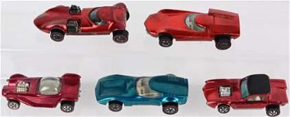 5- VINTAGE HOTWHEELS REDLINES CARS
