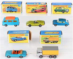 5- MATCHBOX SUPERFAST CARS w/ BOXES