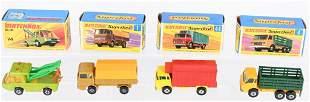 4- MATCHBOX SUPERFAST CARS w/ BOXES