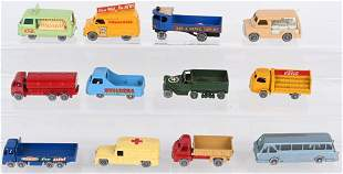 12- LESNEY MATCHBOX GRAY WHEEL CARS & TRUCKS