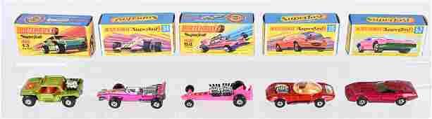 5- EARLY MATCHBOX SUPERFAST CARS MIB