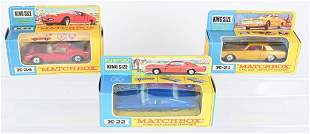 3- EARLY MATCHBOX KING SIZE CARS MIB