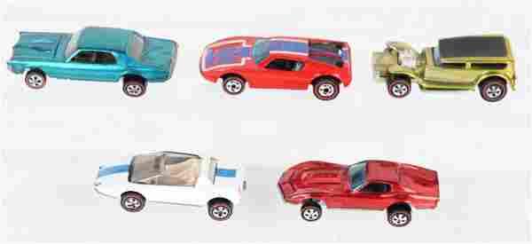 5- VINTAGE HOT WHEELS RED LINE CARS