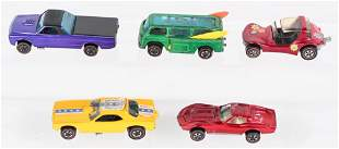 5- VINTAGE HOT WHEELS RED LINE CARS